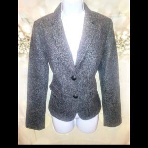 Banana republic gray/black/white wool blazer